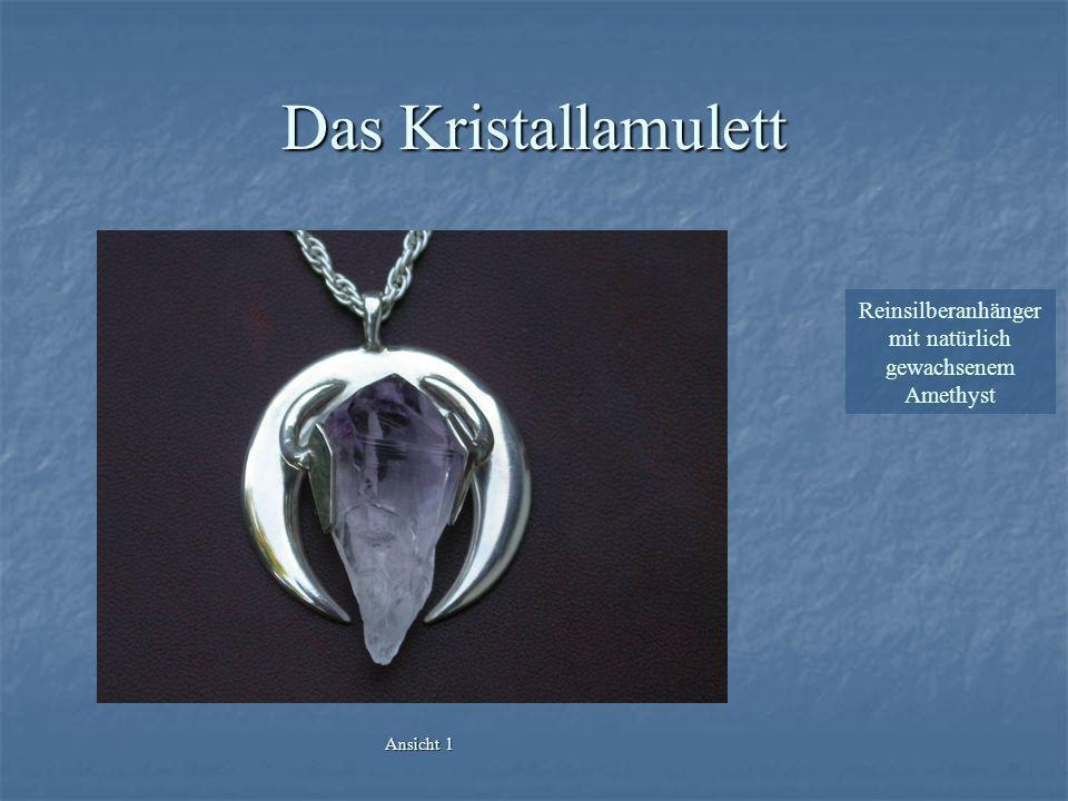 Das Kristallamulett Reinsilberanhänger mit natürlich gewachsenem Amethyst Ansicht 1