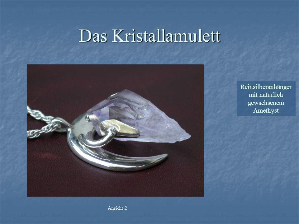 Das Kristallamulett Reinsilberanhänger mit natürlich gewachsenem Amethyst Ansicht 2