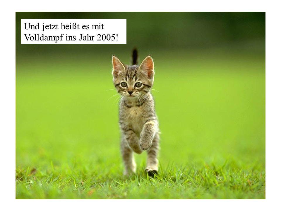 Und jetzt heißt es mit Volldampf ins Jahr 2005!