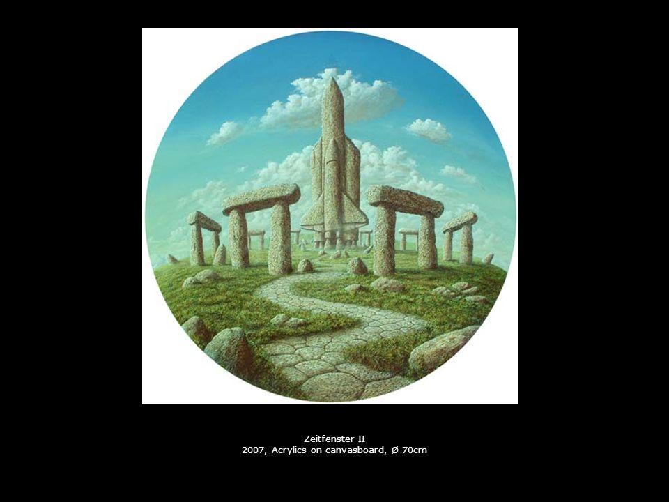 Die Apokalypse 2002, Collage, Ø 70cm