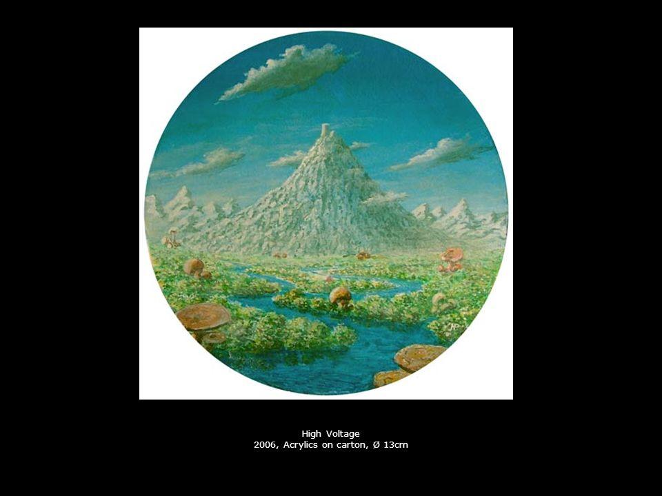 High Voltage 2006, Acrylics on carton, Ø 13cm