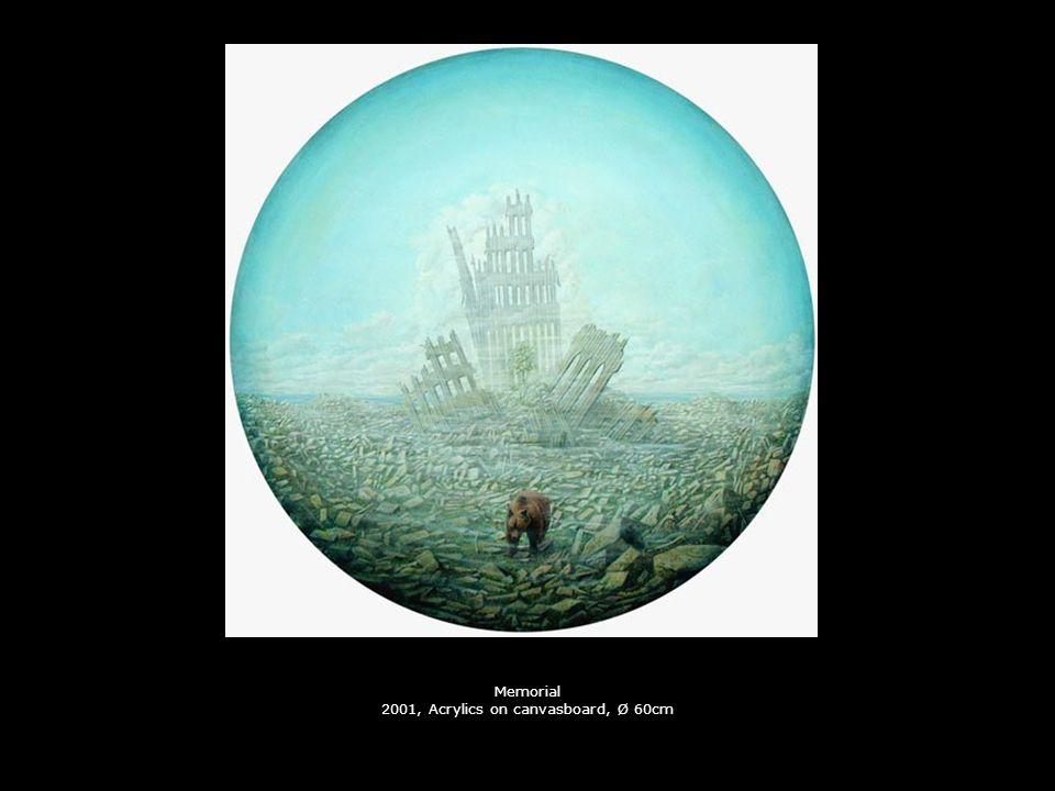 Das Glück 2001, Collage, Ø 70cm (drehbar)