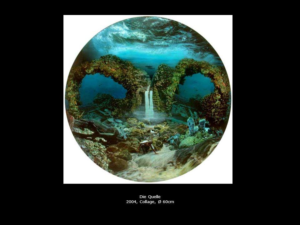 Die Quelle 2004, Collage, Ø 60cm