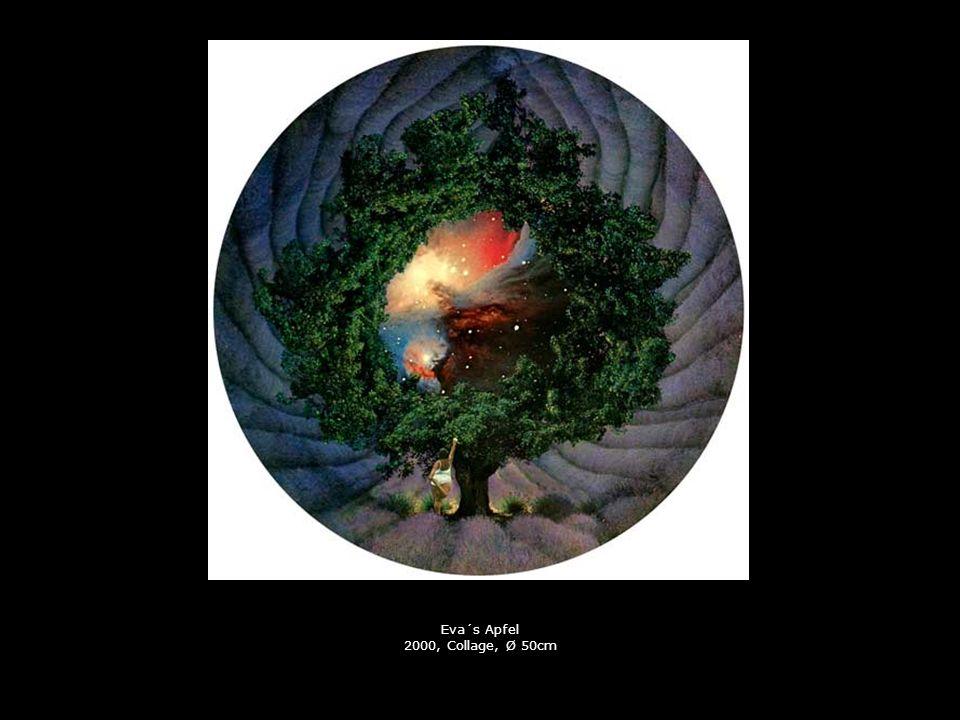 Eva´s Apfel 2000, Collage, Ø 50cm