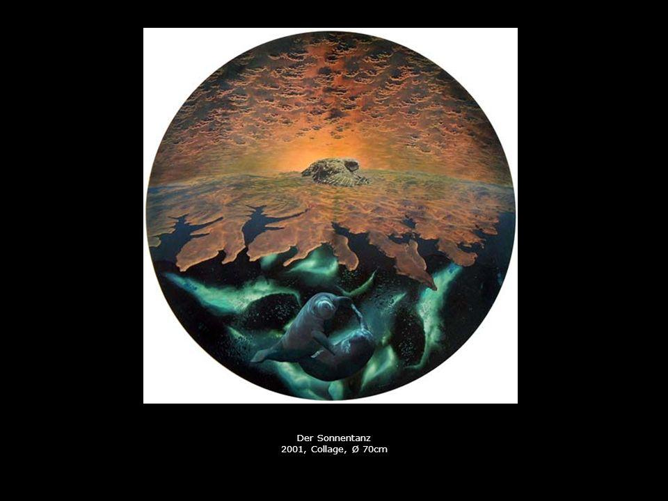 Der Sonnentanz 2001, Collage, Ø 70cm
