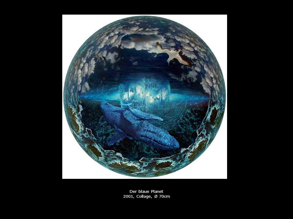 Der blaue Planet 2001, Collage, Ø 70cm