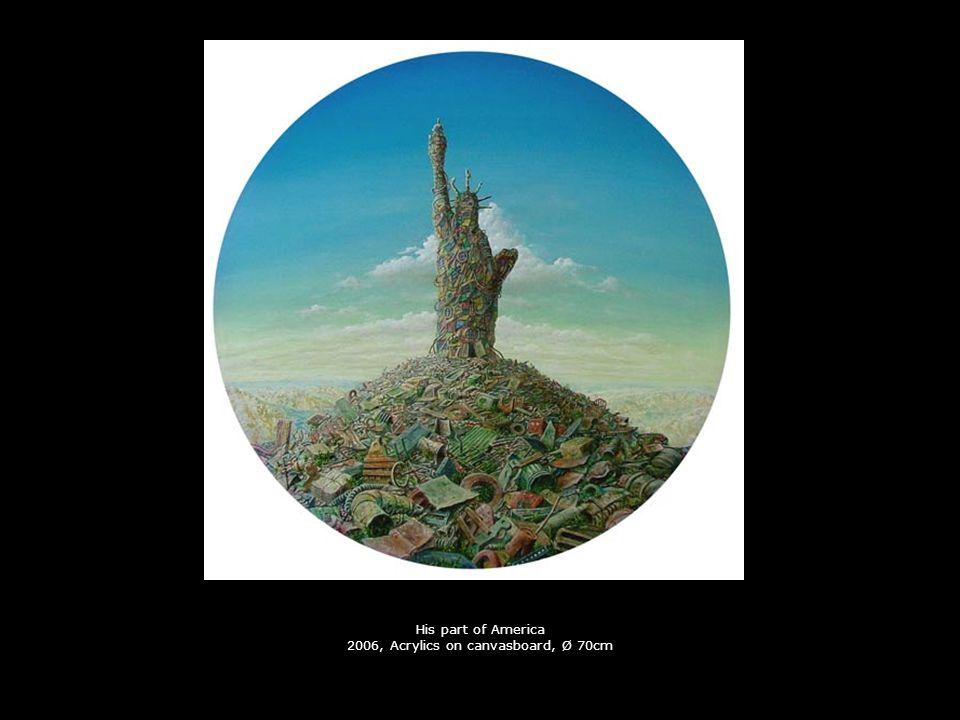 La solitude 2005, Acrylics on carton, Ø 13cm