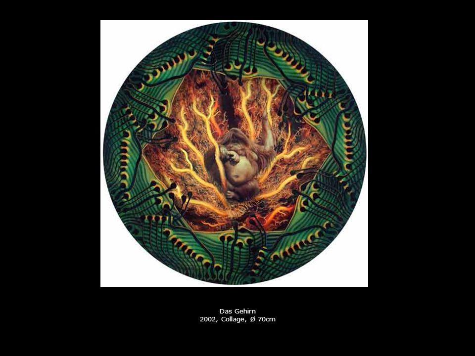 Das Gehirn 2002, Collage, Ø 70cm