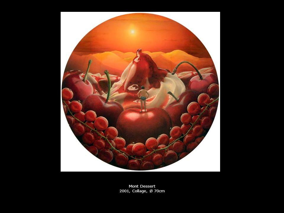 Mont Dessert 2001, Collage, Ø 70cm