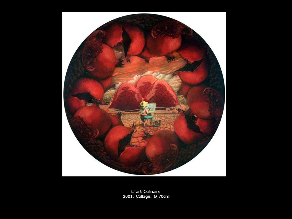 L´art Culinaire 2001, Collage, Ø 70cm