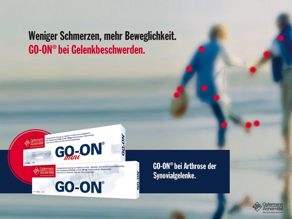 GO-ON ®, zur Schmerzlinderung und Verbesserung der Beweglichkeit.