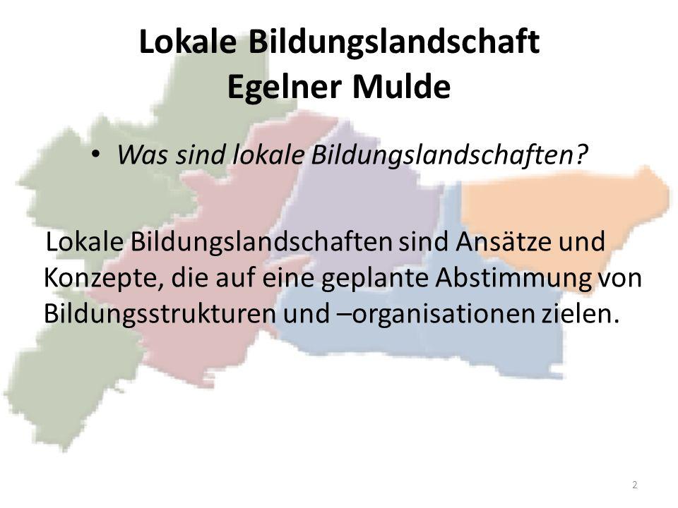 Lokale Bildungslandschaft Egelner Mulde Was sind lokale Bildungslandschaften? Lokale Bildungslandschaften sind Ansätze und Konzepte, die auf eine gepl