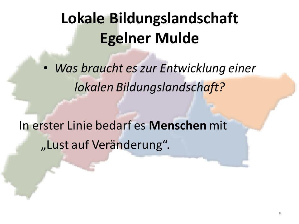 Lokale Bildungslandschaft Egelner Mulde Wie wollen wir dieses Ziel erreichen.