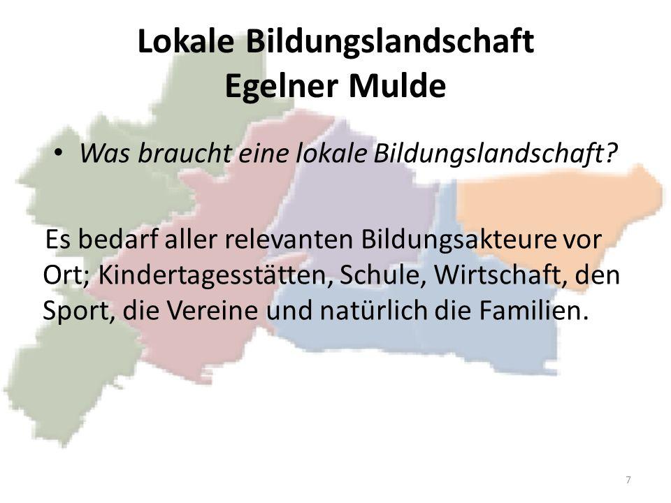 Lokale Bildungslandschaft Egelner Mulde Was braucht eine lokale Bildungslandschaft.