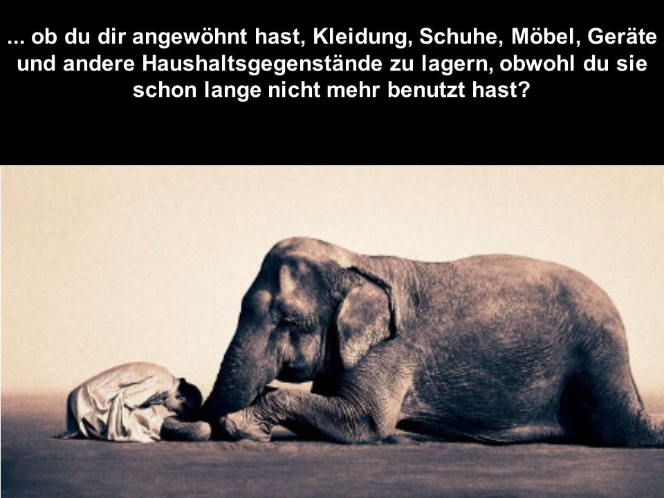 …und in dich selbst.