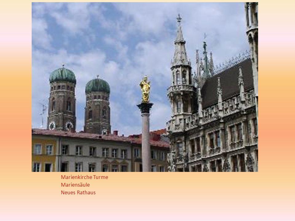 Marienkirche Turme Mariensäule Neues Rathaus