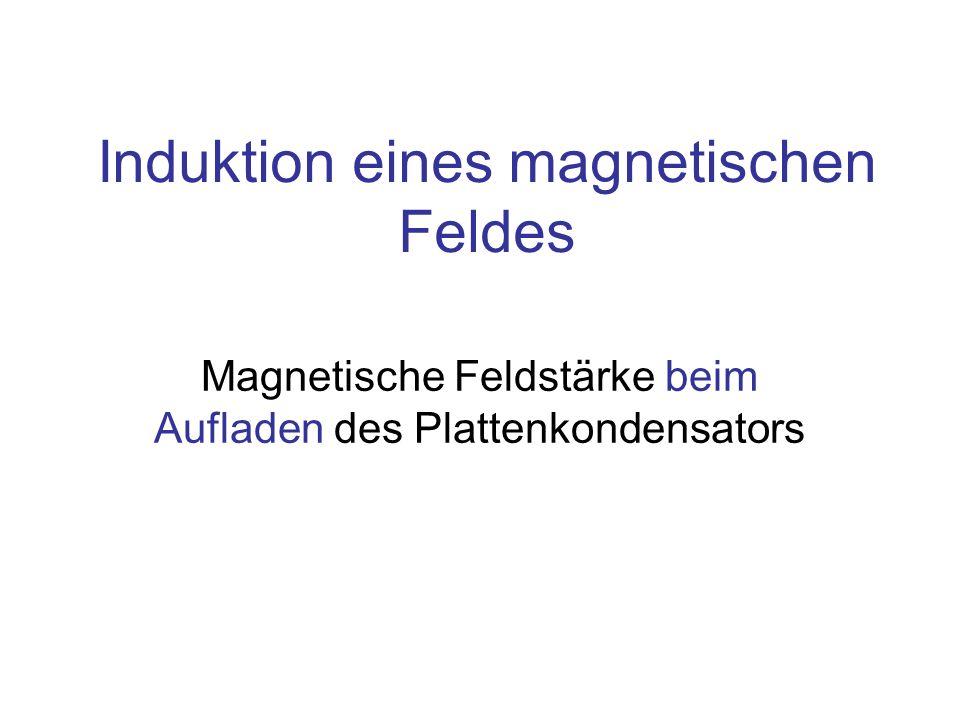 Inhalt Feldstärke und Ladungen Feldaufbau bei Stromfluss Äquivalenz: Stromfluss und Feldaufbau Induktion eines Magnetfeldes Induktion eines elektrischen Feldes