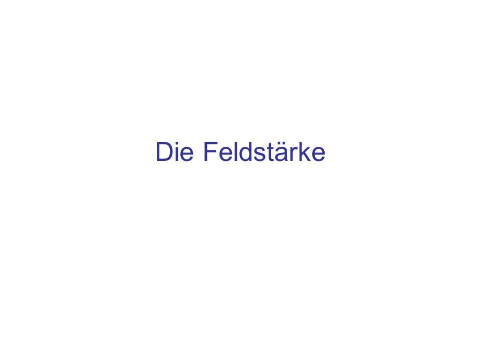 Inhalt Die elektrische Feldstärke –Definition –Feldlinien Die magnetische Feldstärke –Definition –Lorentzkraft –Kraft zwischen zwei stromdurchflossenen Leiter