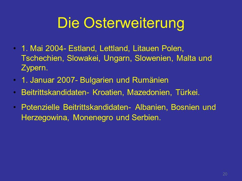 20 Die Osterweiterung 1.