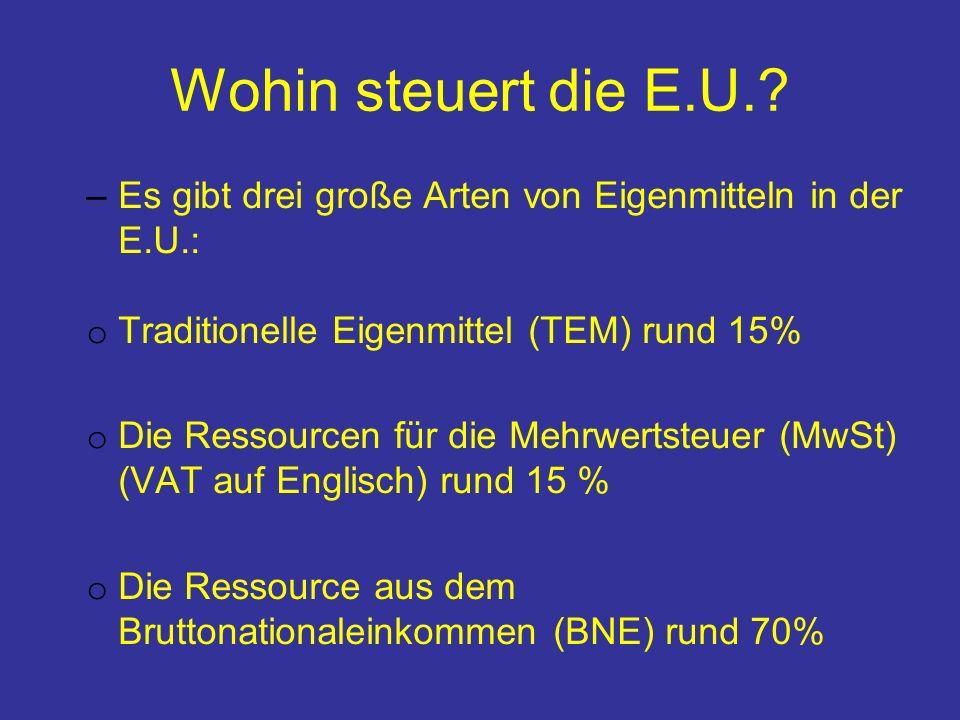 Wohin steuert die E.U..