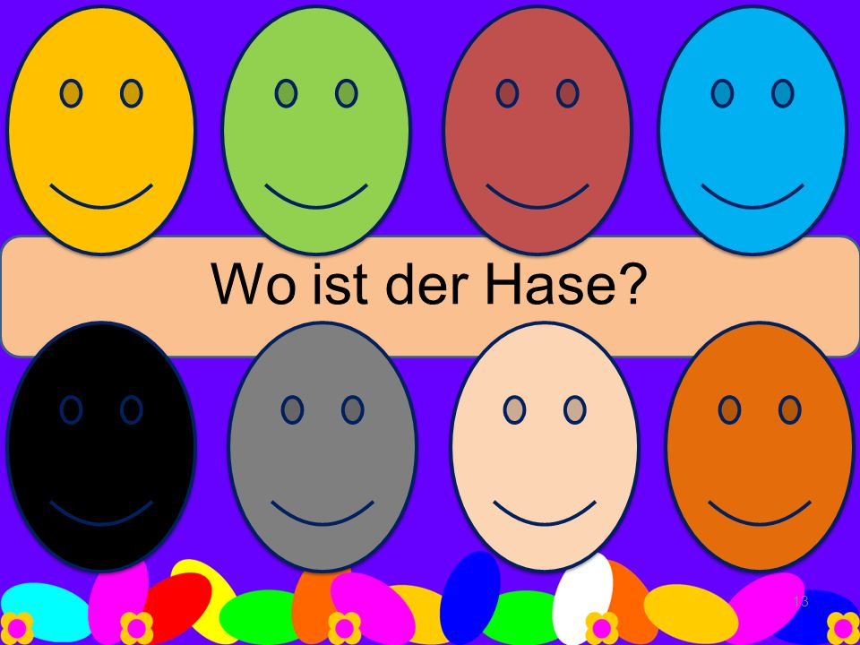 Wo ist der Hase? 13