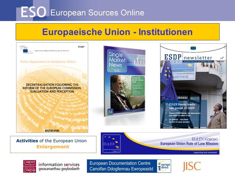 Europaeische Union - Institutionen