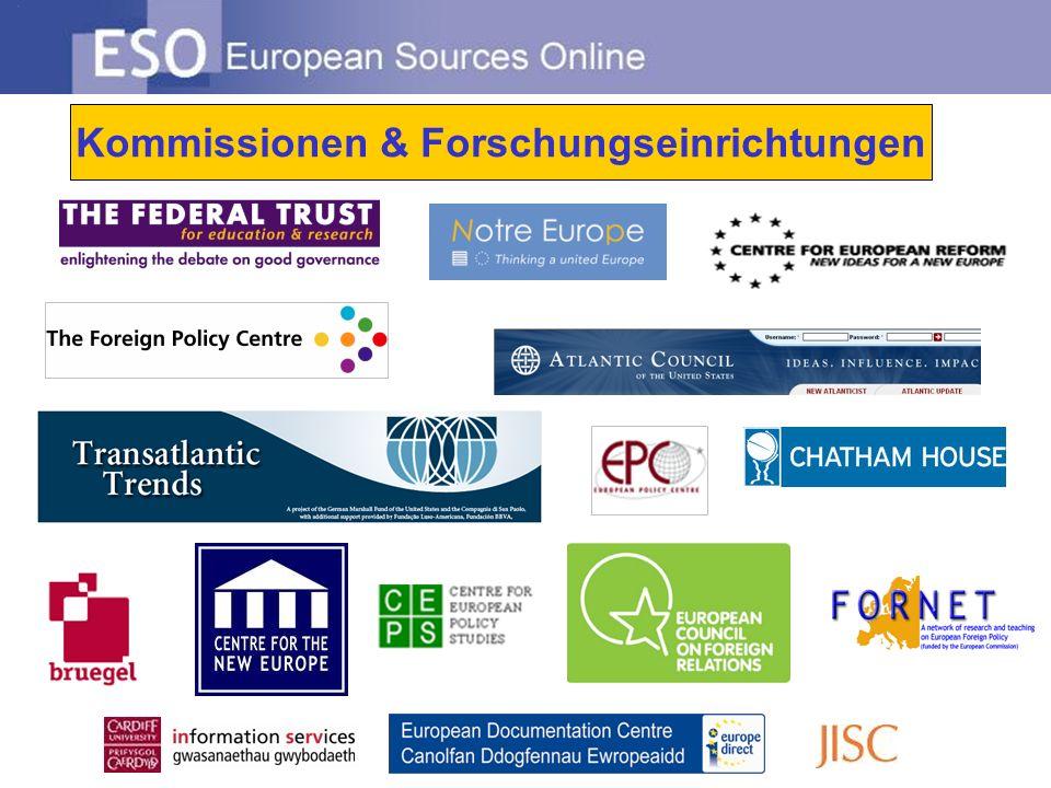 Kommissionen & Forschungseinrichtungen