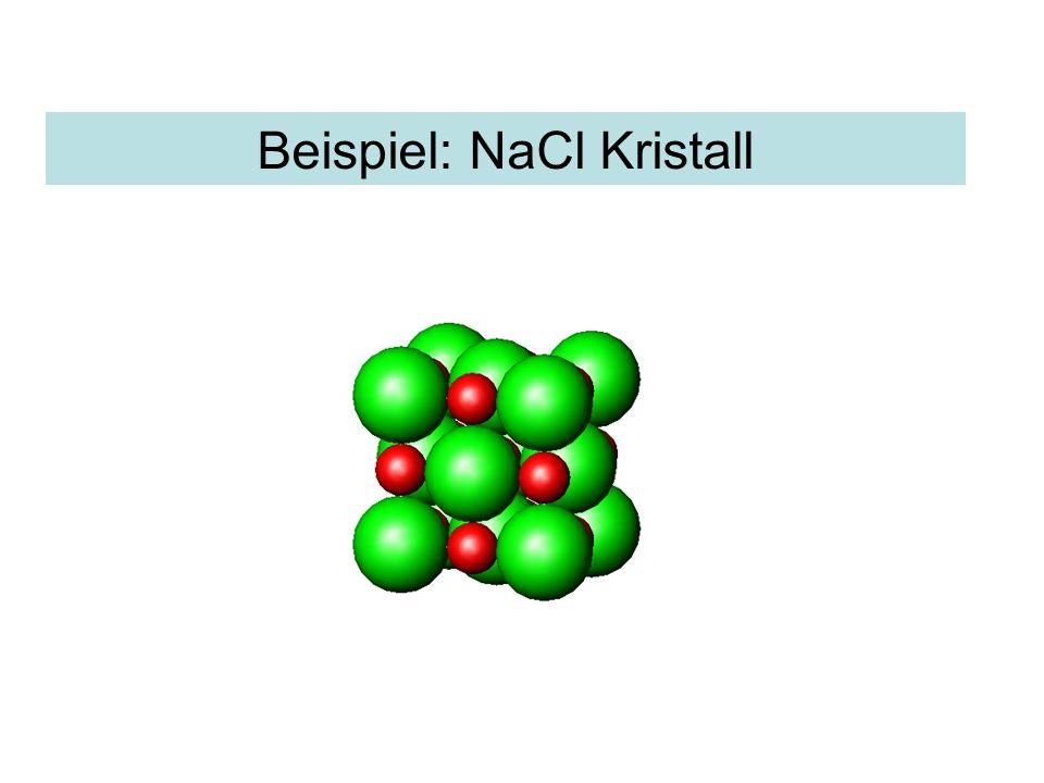 Beispiel: NaCl Kristall