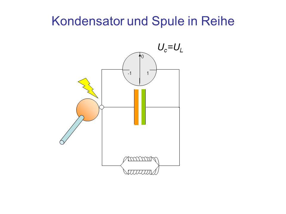 U c =U L Kondensator und Spule in Reihe 1 0