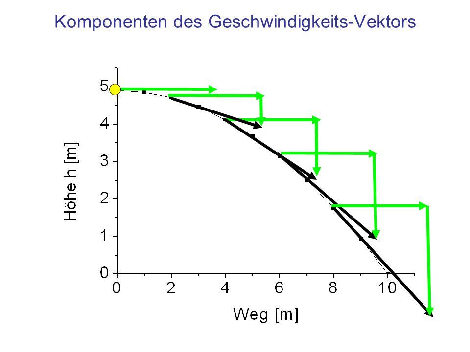 Komponenten des Geschwindigkeits-Vektors