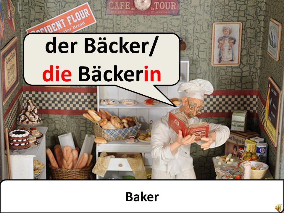 Butcher der Fleischer/ die Fleischerin der Metzger/ die Metzgerin