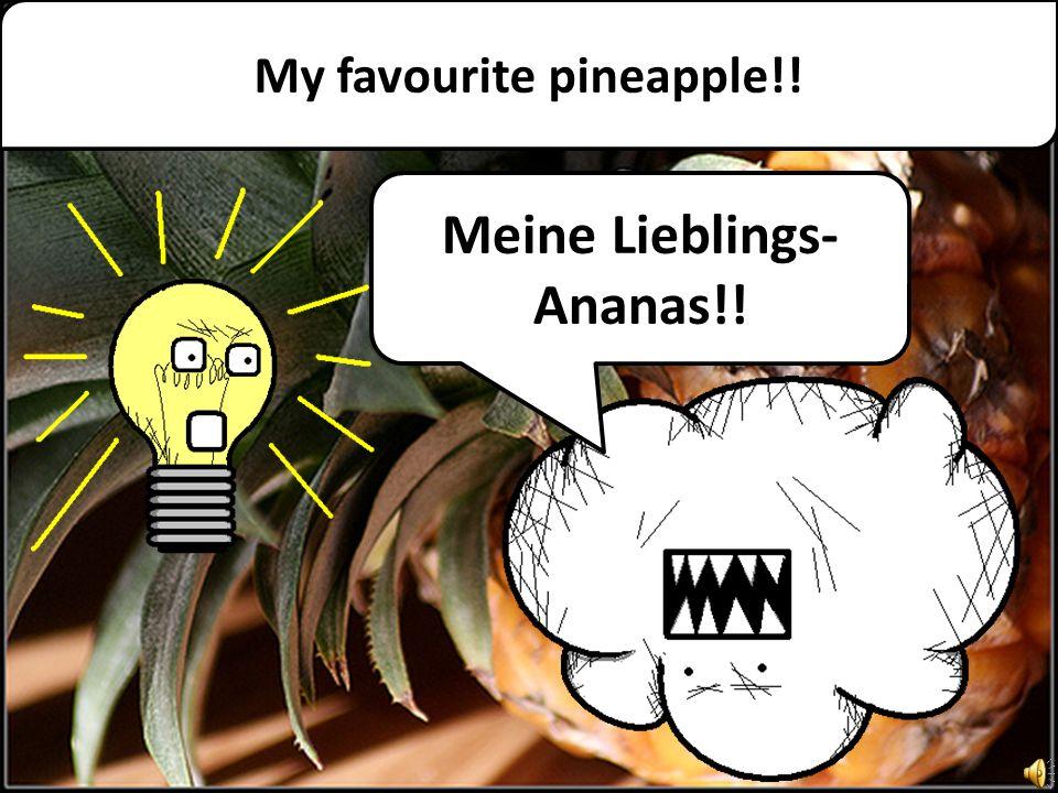 My favourite pineapple!! Meine Lieblings- Ananas!!