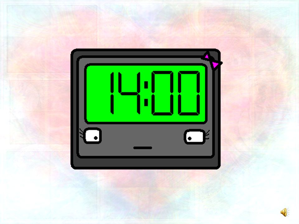I can see myself now with my sweet clock.