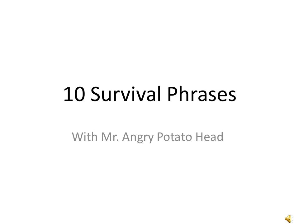 10 Survival Phrases With Mr. Angry Potato Head