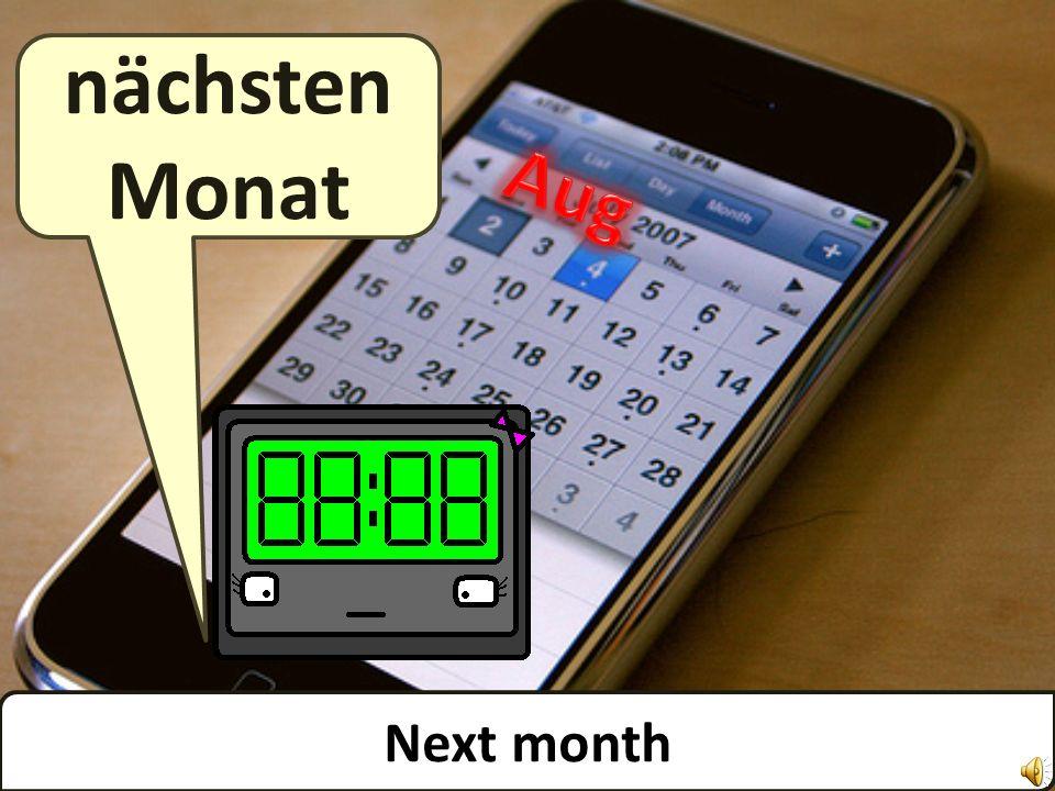 This month diesen Monat