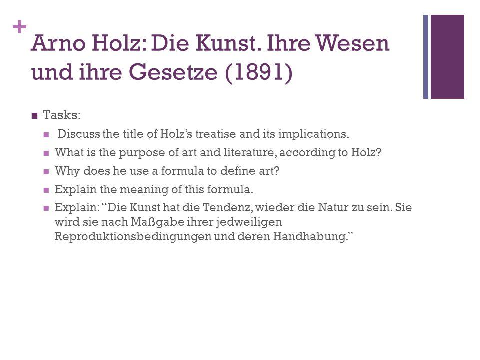 + Arno Holz: Die Kunst.