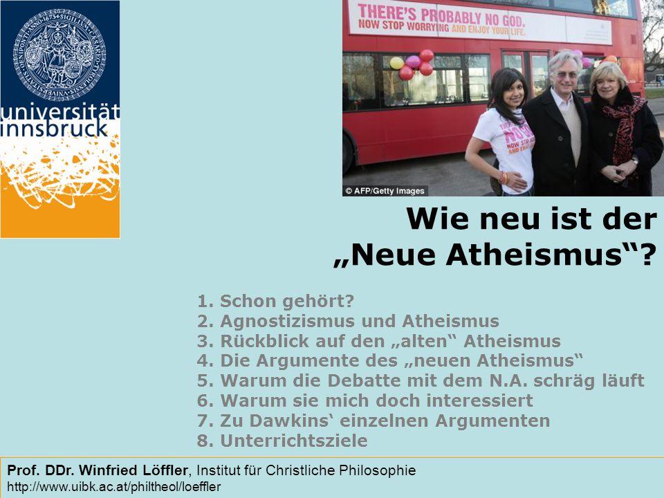 Wie neu ist der Neue Atheismus.1. Schon gehört. 2.