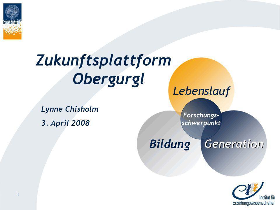 1 Zukunftsplattform Obergurgl Lynne Chisholm 3. April 2008