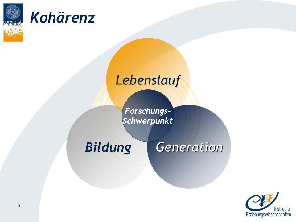 5 Kohärenz Bildung Lebenslauf Generation Forschungs- Schwerpunkt