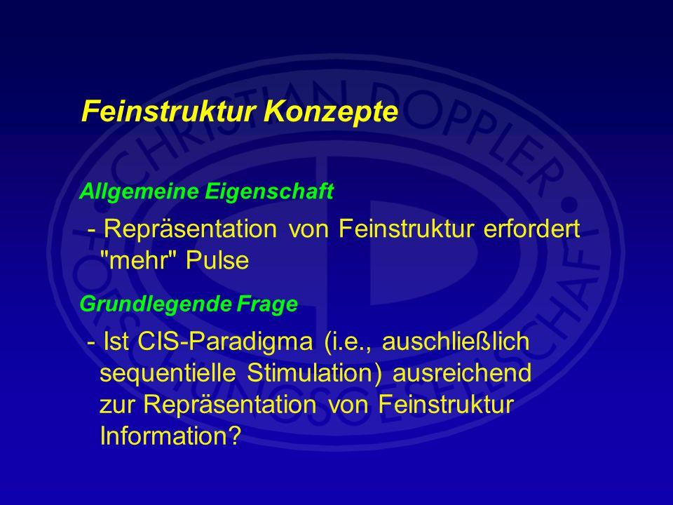 Allgemeine Eigenschaft - Repräsentation von Feinstruktur erfordert