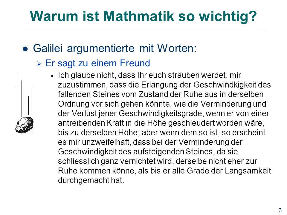 3 Warum ist Mathmatik so wichtig.