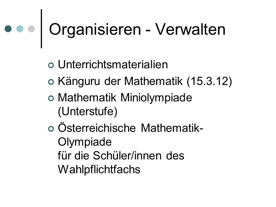 Kompetenzen der Mathematiklehrer/innen Fachliche Kompetenz Fachdidaktische Kompetenz Pädagogische Kompetenz