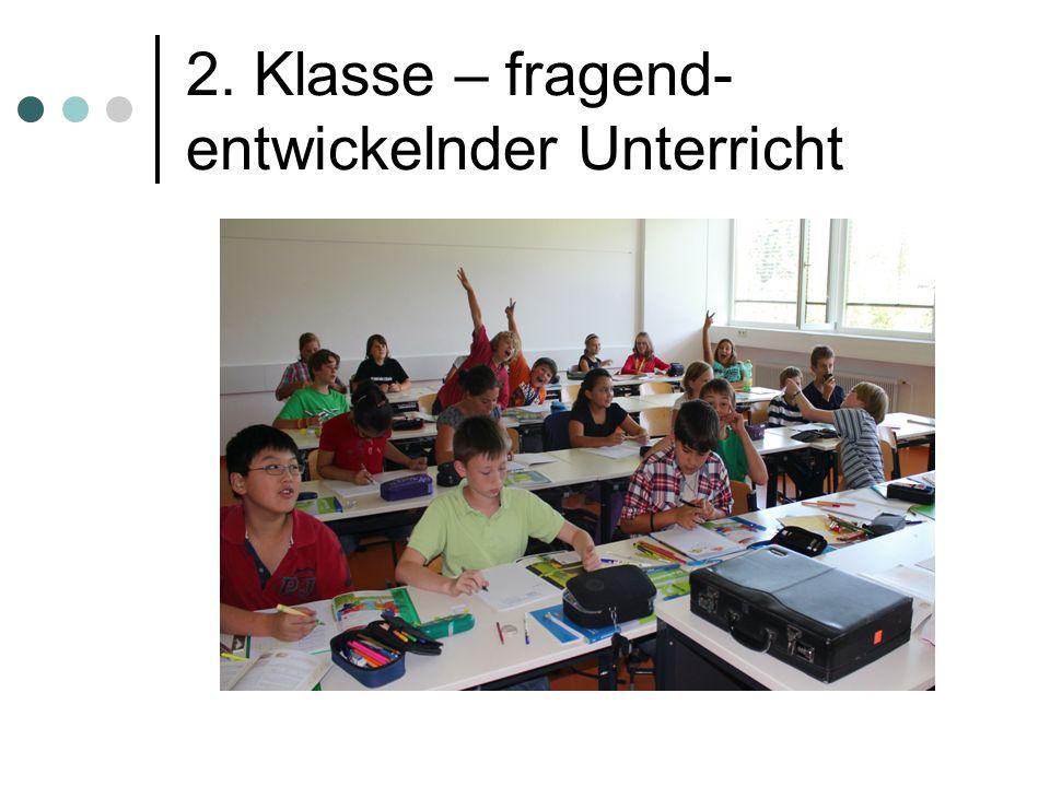 8. Klasse – gelenktes Lernen im Klassenverband