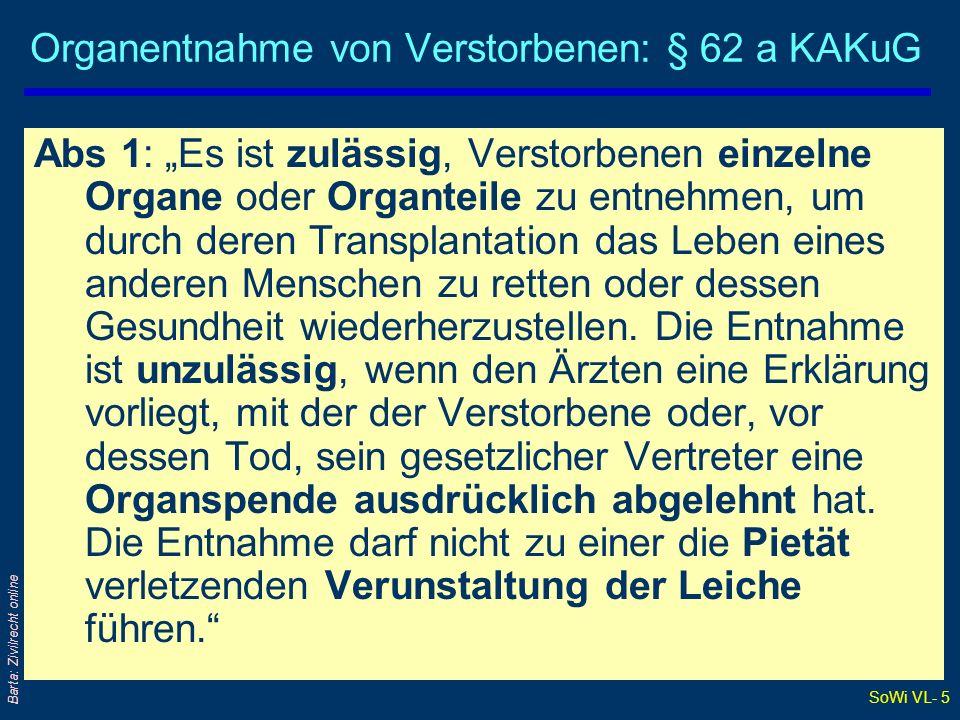 SoWi VL- 45 Barta: Zivilrecht online ETV: Erlösklausel VK 1K 1K 2 KaufV 1 KaufV 2 Typische Formulierung: Veräußert der Käufer die Waren, so geht an Stelle der Ware der eingehende Erlös ins Eigentum des Lieferanten über.