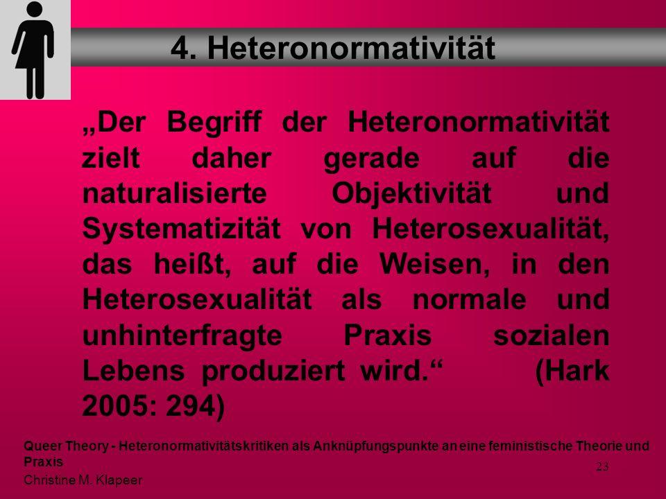 22 Beispiele Geschlechterkonzeptionen (männlich – weiblich/ heterosexuell) in Werbung und Medien Familienkonzeptionen und deren rechtliche Absicherung