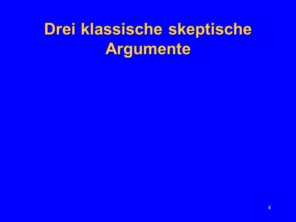 4 Drei klassische skeptische Argumente