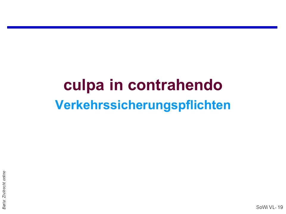 SoWi VL- 19 Barta: Zivilrecht online culpa in contrahendo Verkehrssicherungspflichten