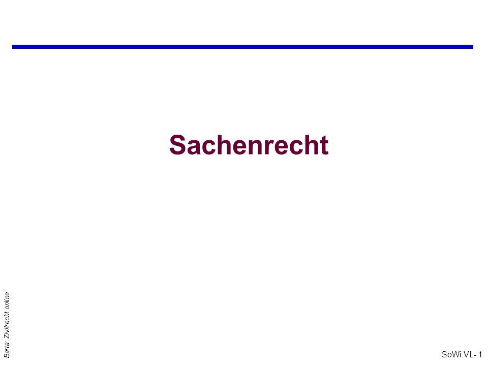 SoWi VL- 1 Barta: Zivilrecht online Sachenrecht