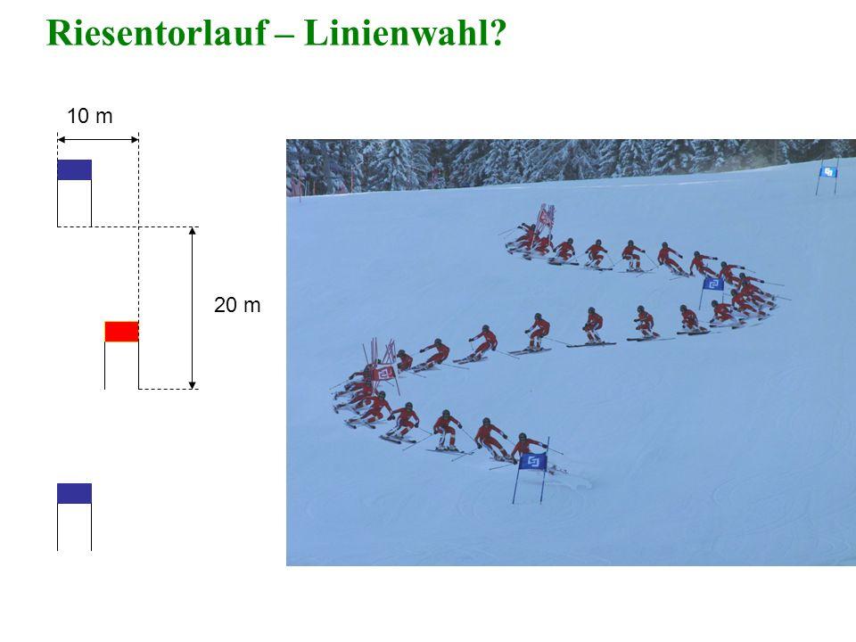10 m 20 m Riesentorlauf – Linienwahl?
