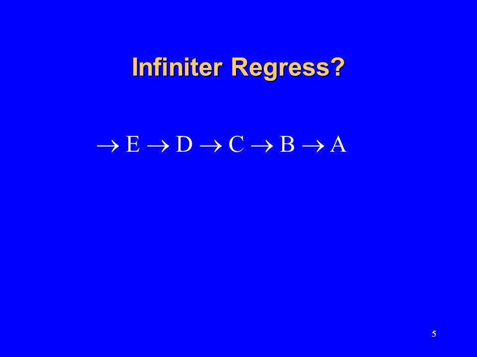 5 Infiniter Regress? E D C B A